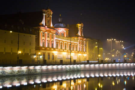 Wroclaw in the night, Poland photo