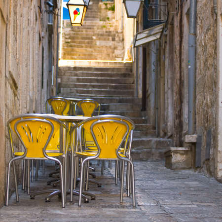 De plein air Restaurant à Dubrovnik, Croatie