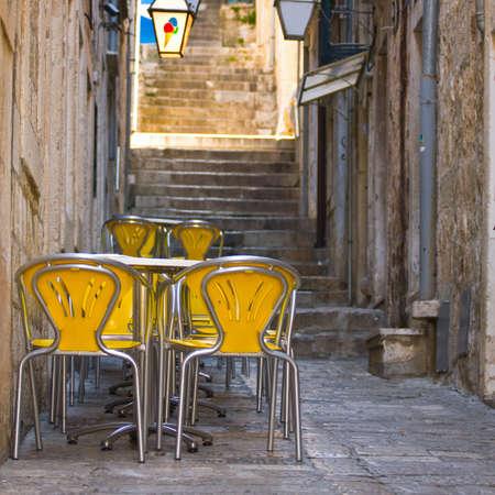 Outdoor Restaurant in Dubrovnik, Croatia