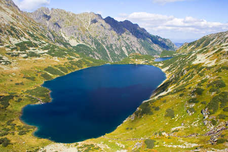 Summer in 5 lakes valley in High Tatra Mountains  Stock Photo