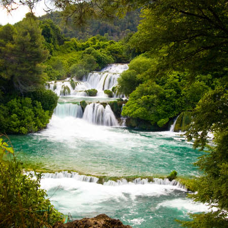 Waterfalls in Krka National Park, Croatia  photo