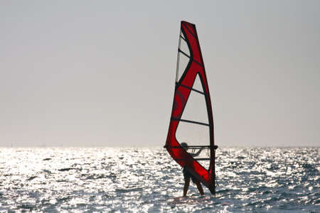 manful: windsurfing Stock Photo