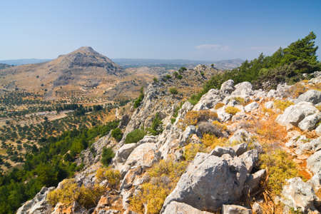 Panoramic view of Rhodes mountain. Rhodes island. Greece. photo