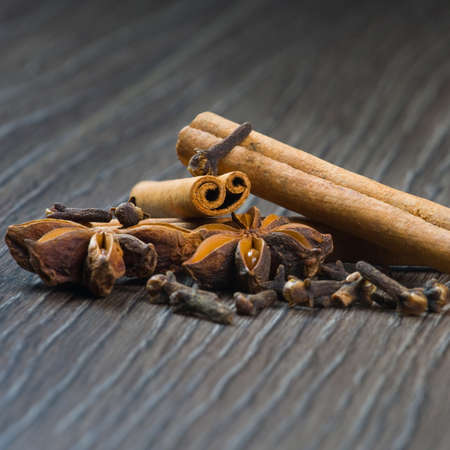 cinnamon, cloves and anise photo