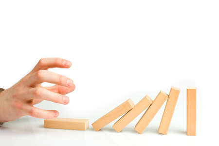 chain reaction: Concept for solution to a problem by stopping the domino effect