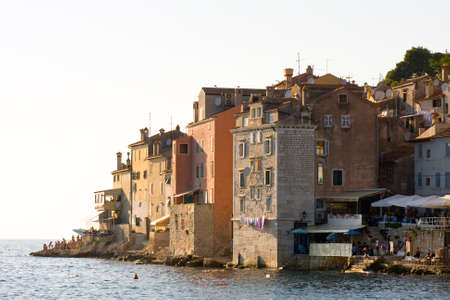 architecture of Rovinj, Croatia  Istria touristic attraction
