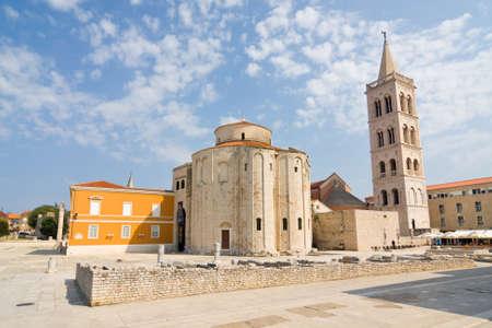 Église de st. Donat, un bâtiment monumental du 9ème siècle à Zadar, Croatie