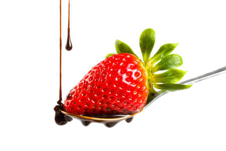 strawberry in chocolate photo