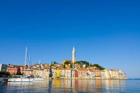 architecture of Rovinj, Croatia  Istria touristic attraction  photo