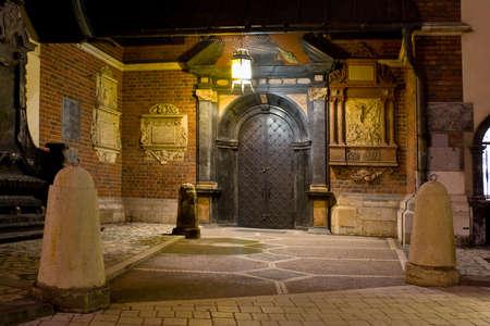 malone: Night city square in Krakow, Poland