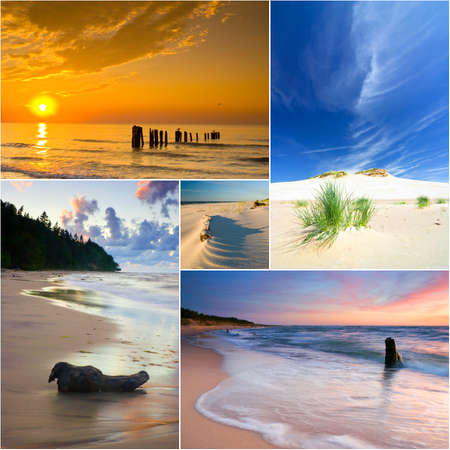 Baltic Sea, Poland, collage photo