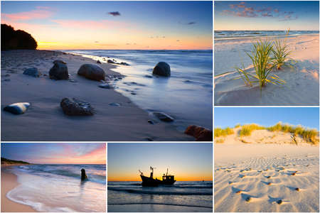 Baltic Sea, Poland, collage Stock Photo