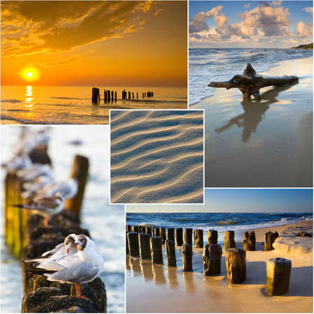 Baltic Sea, Poland, collage photo