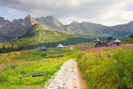 タトラ山脈のポーランドの Gasienicowa バレー