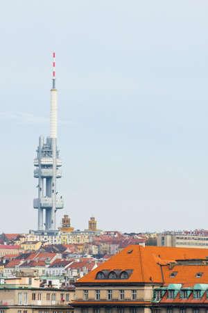 Zizkov television tower in Prague, Czech Republic  photo