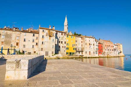 architecture of Rovinj, Croatia  Istria touristic attraction photo