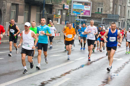 cracovia: KRAKOW, POLAND - APRIL 28 : Cracovia Marathon. Runners on the city streets on April 28, 2013 in Krakow, POLAND