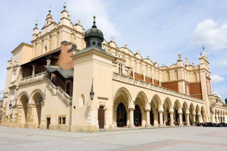 View of the old town of Cracow, old Sukiennice, Poland photo
