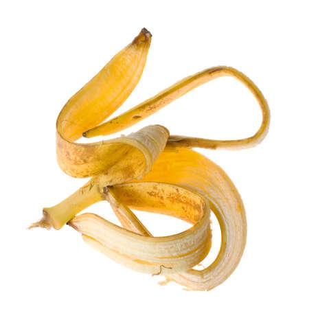 banana peel: banana peel on white background  Stock Photo