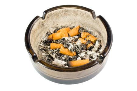 snuff: ashtray on white background Stock Photo