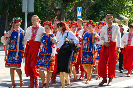 LOCHOW, POLAND -JUNE 25, 2011: The International Folklore Meetings 'Kupalnocka' is a festival, which is listed in the calendar of cultural events Mazovia as colorful artists and public meetings devoted to the exploration and promotion of folklore. JUNE 25
