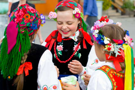 LOCHOW, POLAND -JUNE 25, 2011  The International Folklore Meetings  Kupalnocka  is a festival, which is listed in the calendar of cultural events Mazovia as colorful artists and public meetings devoted to the exploration and promotion of folklore  JUNE 25