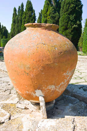 balchik: big jar in the garden, Balchik Stock Photo