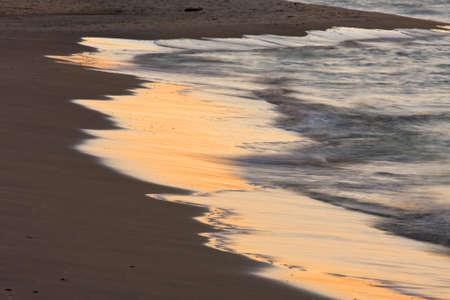 Coast closeup at sunset