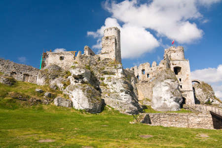 jura: The old castle ruins of Ogrodzieniec fortifications, Poland.