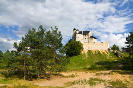 medieval castle in Bobolice, Poland