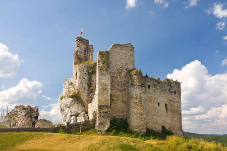 intriguing: Ruins of medieval castle Mirow in Poland  Editorial