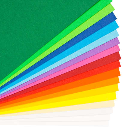 Colourful Paper isolated on white  photo