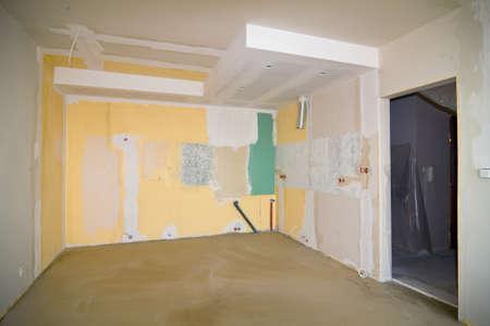 tristesse: old apartment needs renovation Stock Photo
