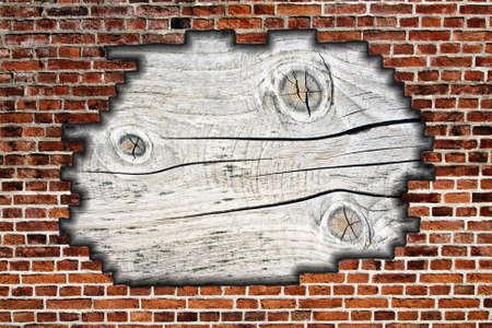 muro rotto: muro rotto con fondo in legno