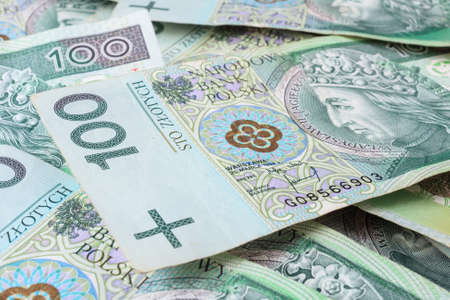 Seamlessly tileable and repeatable 100s PLN (polish zloty)