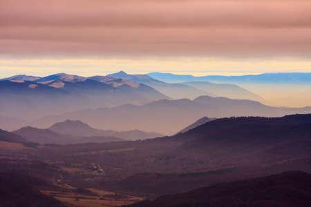 foggy landscape in Bieszczady Mountains, Poland, Europe Stock Photo - 24369464