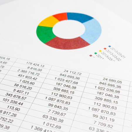financial chart  photo