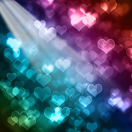 bright colorful valentines day bokeh background  photo