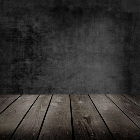 Old room and wooden floor photo