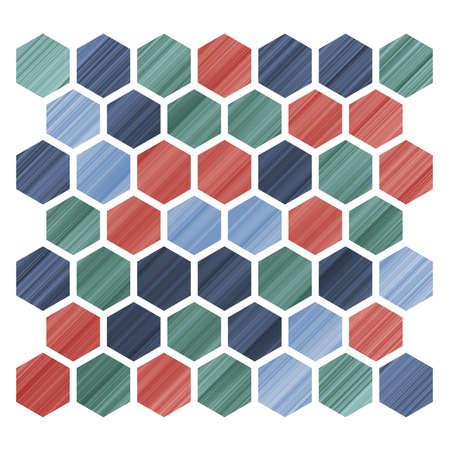 Grunge geometric hexagon pattern photo
