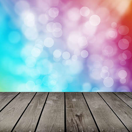 room with colorful bubbles pattern photo