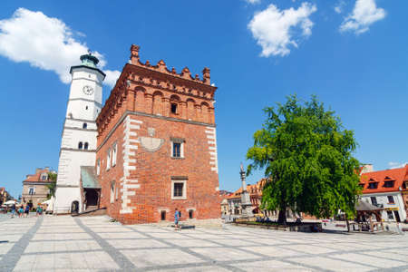 Sandomierz, Poland - MAY 23: Sandomierz is known for its Old Town, which is a major tourist attraction. MAY 23, 2014. Sandomierz, Poland.  Publikacyjne