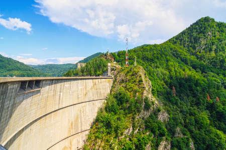 Vidraru dam, Fagaras mountains, Romania photo