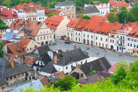 kazimierz: aerial view, Kazimierz Dolny, Poland
