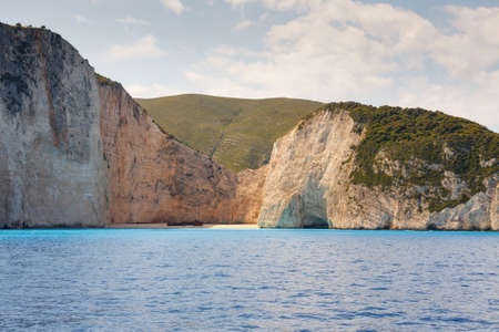 Shipwreck Bay,Navagio Beach,  Zakynthos, Greece photo