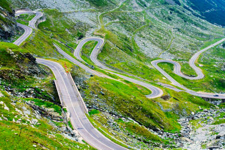 transfagarasan: Transfagarasan mountain road, Romanian Carpathians  Stock Photo