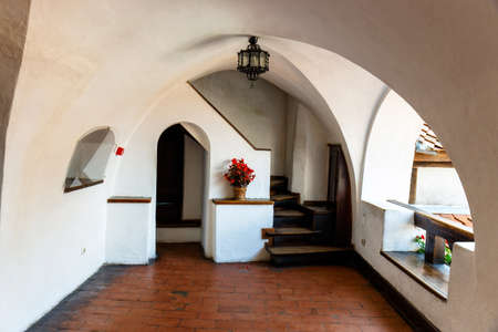 castle conditioning: Interior of Medieval Castle of Bran also known for the myth of Dracula.  Editorial