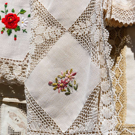 Romanian traditional fabric photo