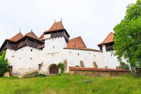 Viscri, saxon fortified church, Transylvania, Romania Stock Photo