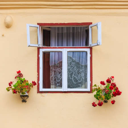 Windows and shutters, close up photo